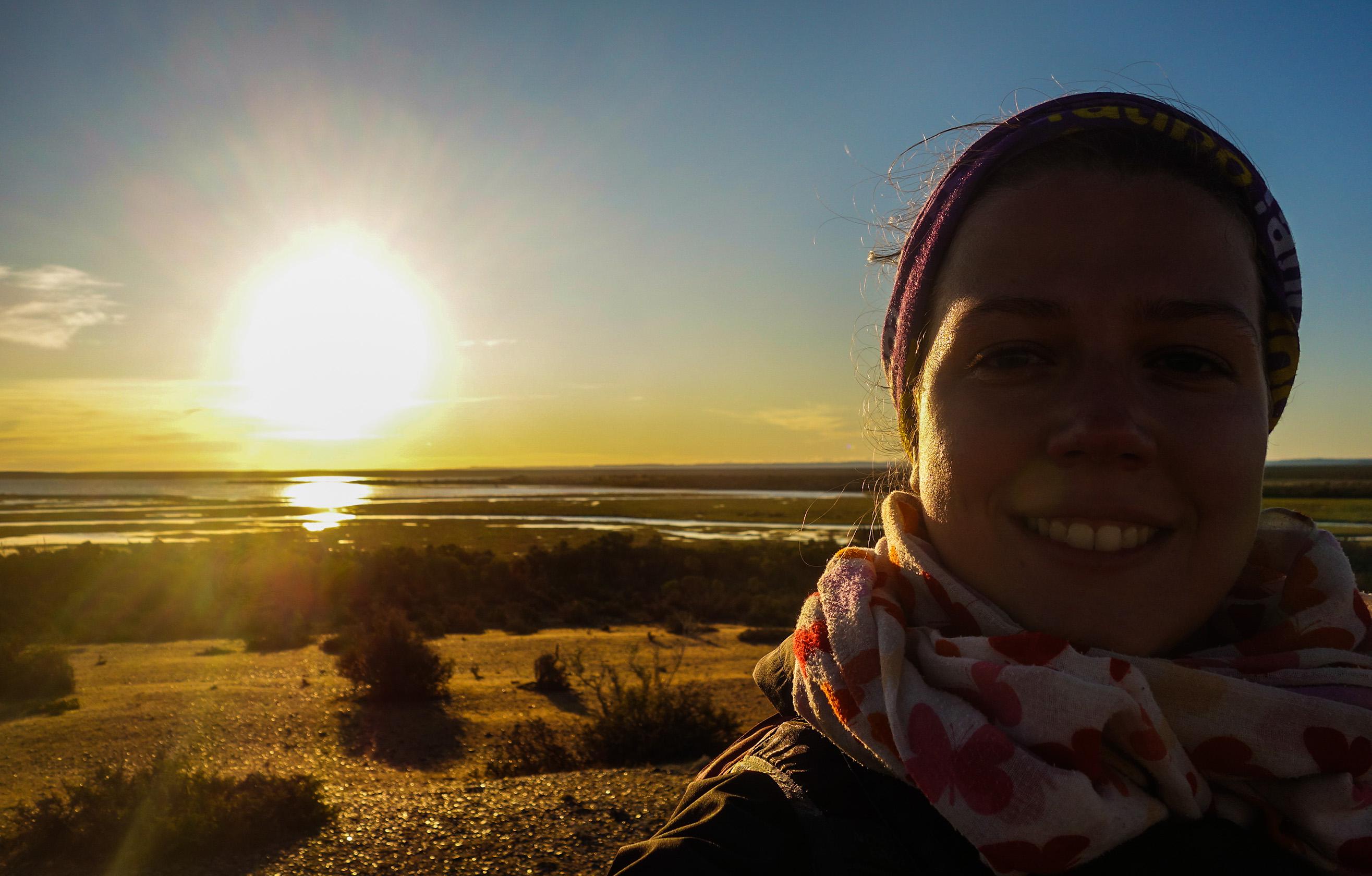 Lucie en Patagonie