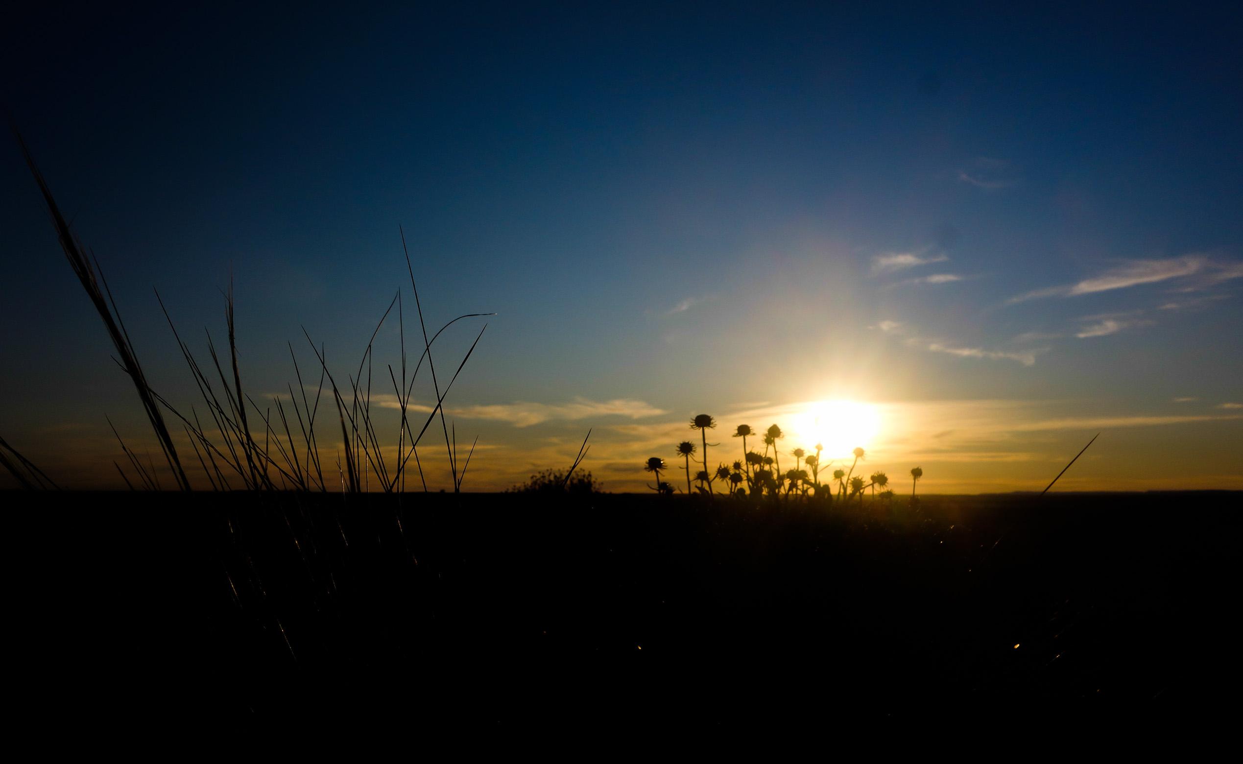 Coucher de soleil en Patagonie