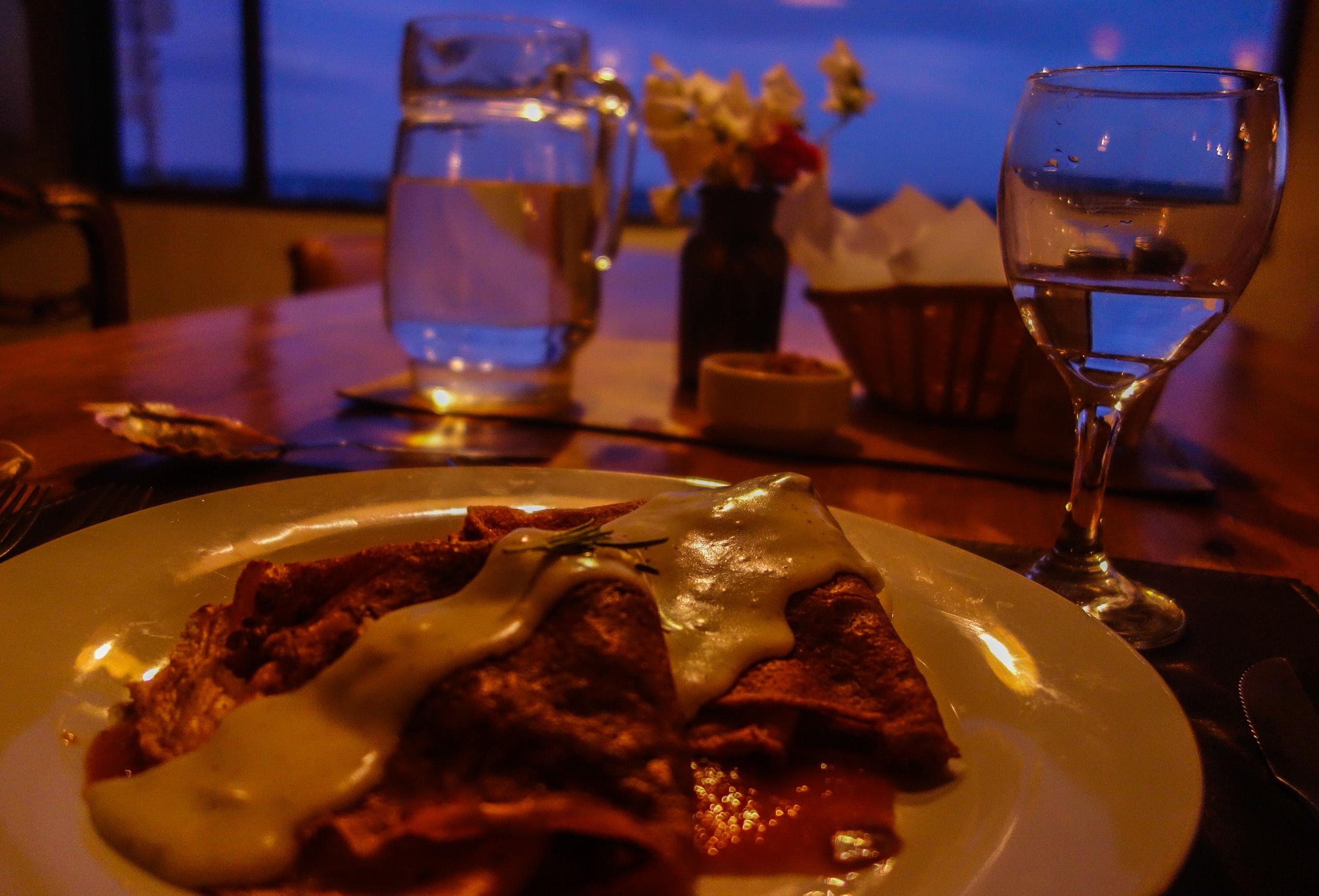 Un délicieux dîner en Patagonie