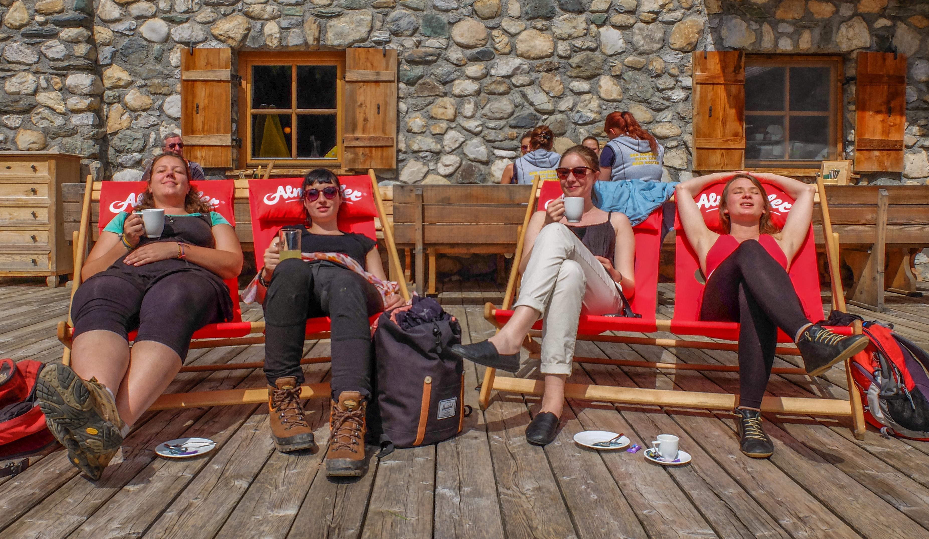 Kasplatz en Autriche - savourer un café au soleil et avec vue