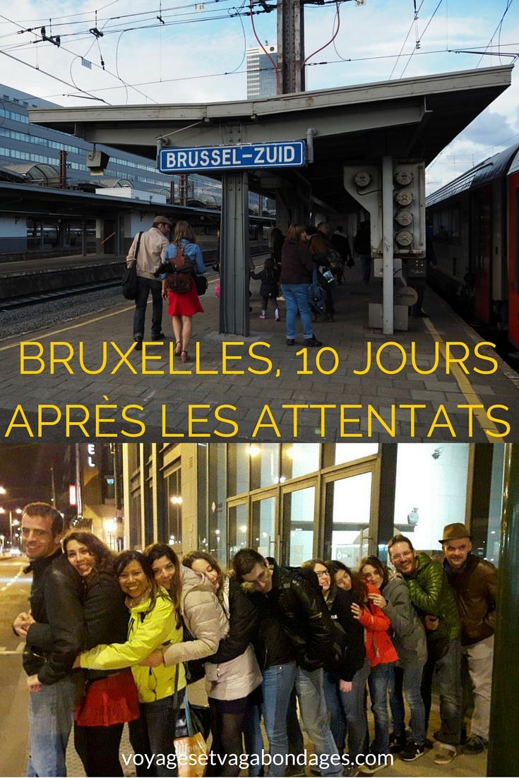 Bruxelles tout en émotions, dix jours après les attentats