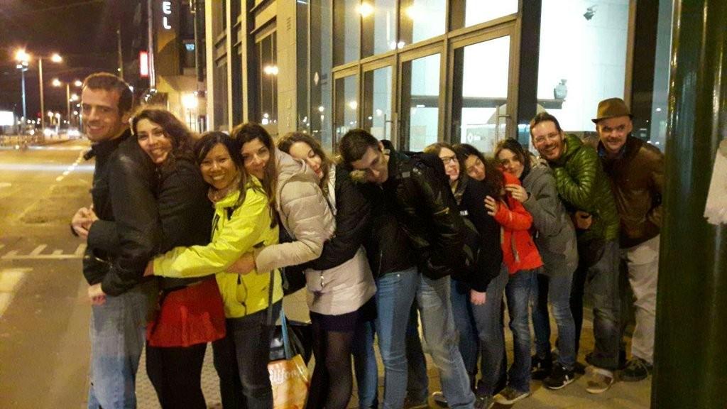 Instant doudou entre blogueurs à Bruxelles