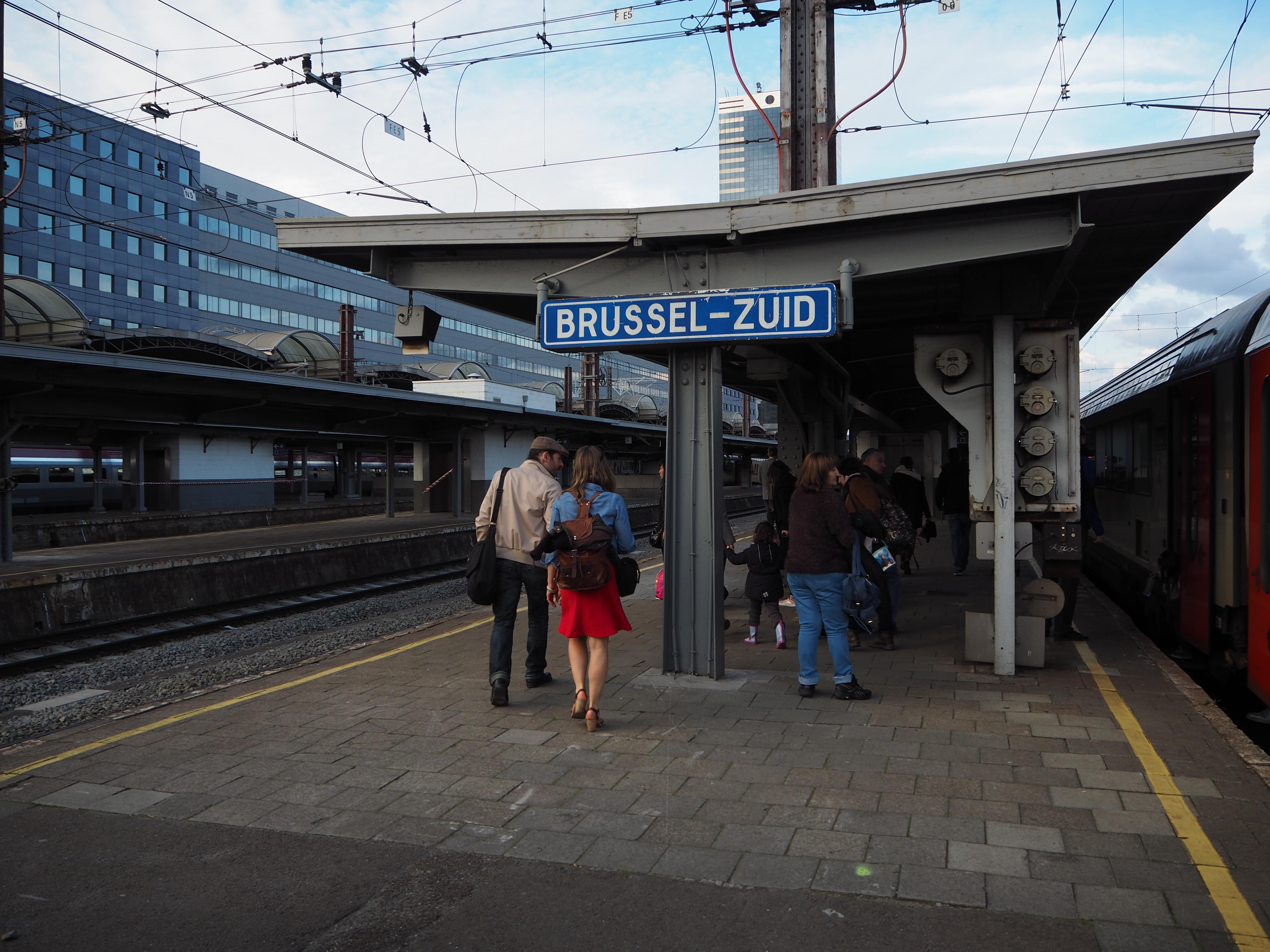 En gare de Bruxelles-Midi