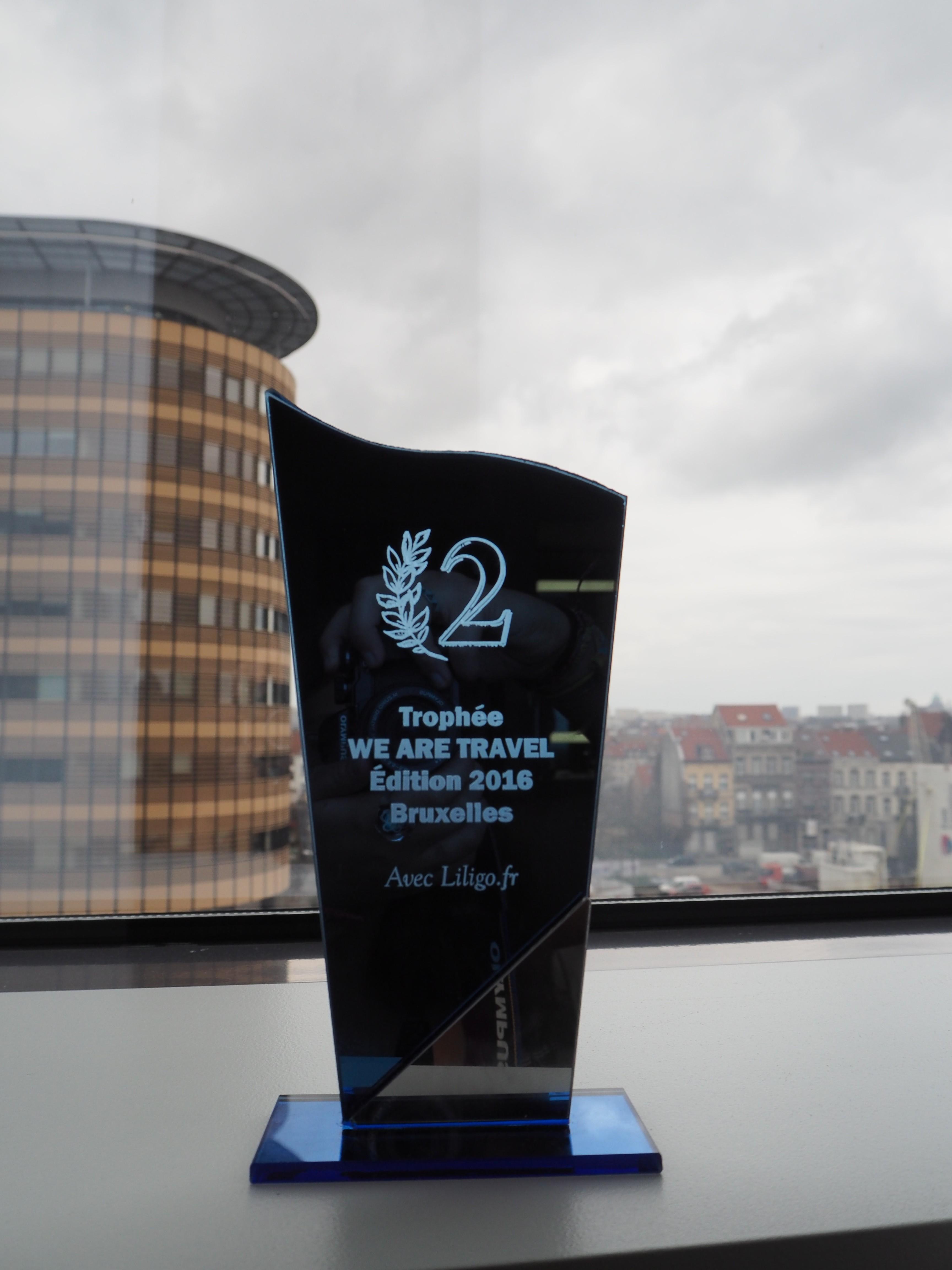 Trophée We Are Travel 2e Place 2016