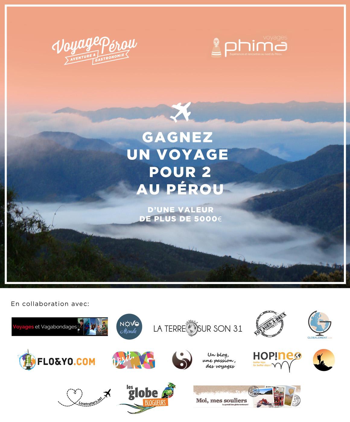 Gagner un voyage au Pérou pour deux personnes