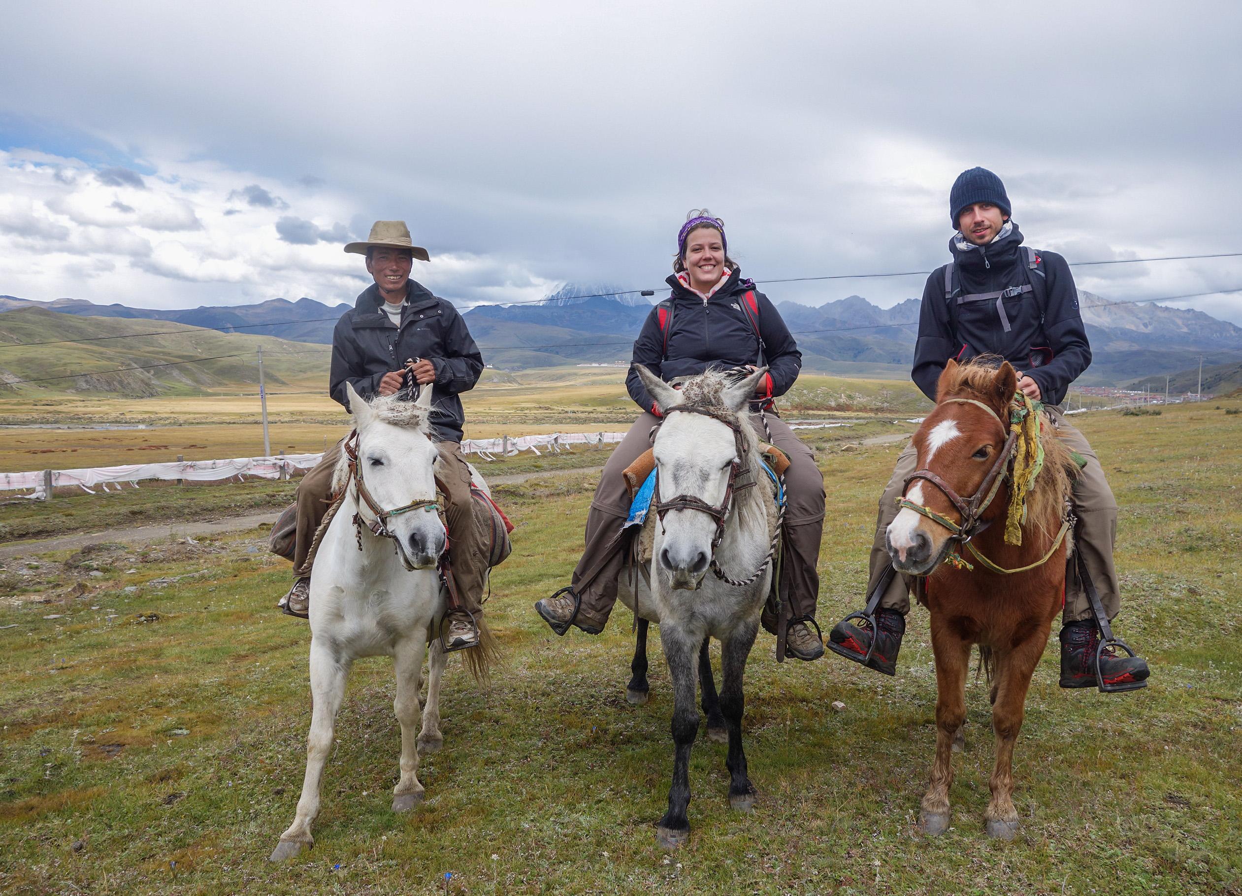 Fin du trek à cheval au Tibet