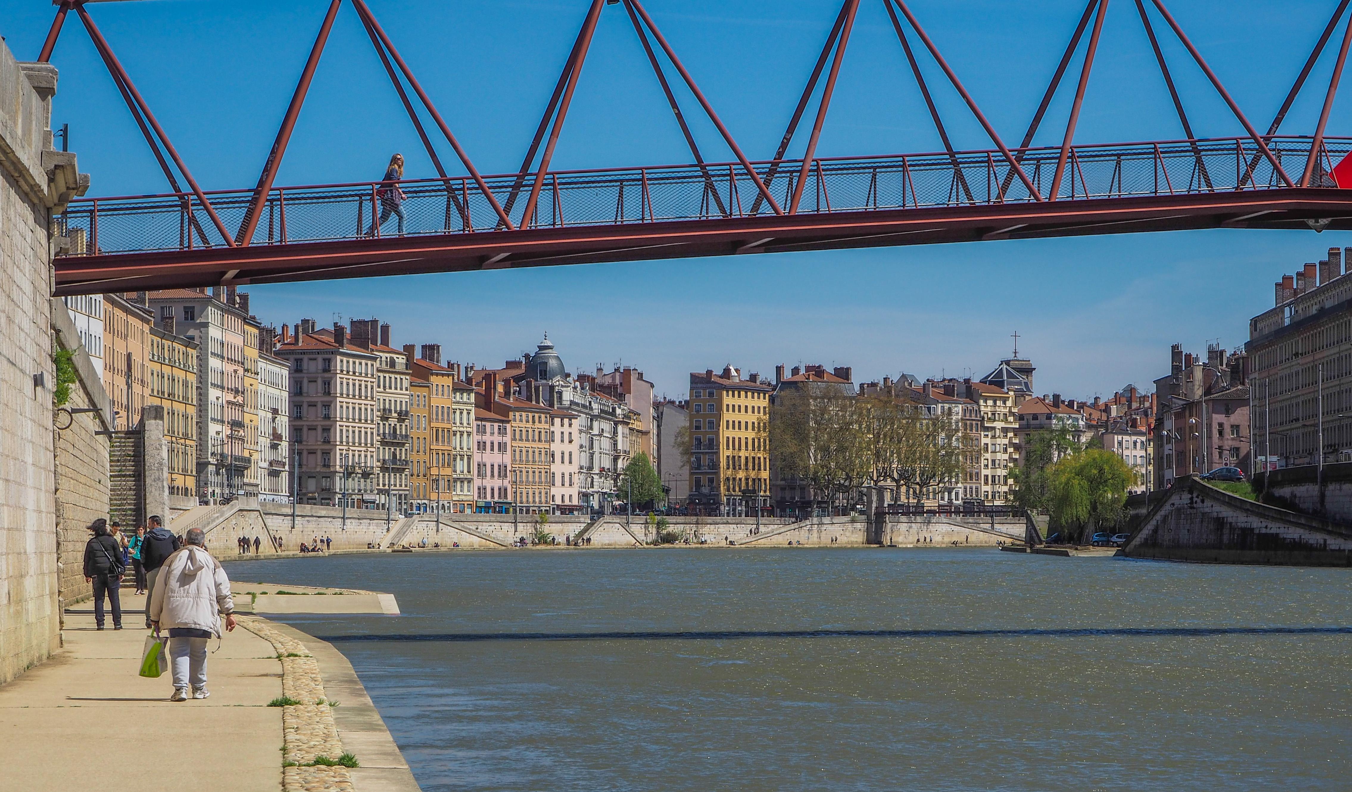 Sur les berges de la Saône à Lyon