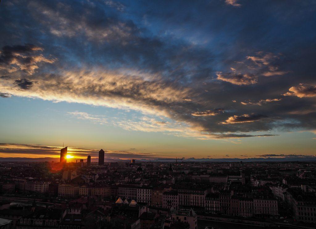 Lever de soleil depuis l'auberge de jeunesse HI Vieux Lyon