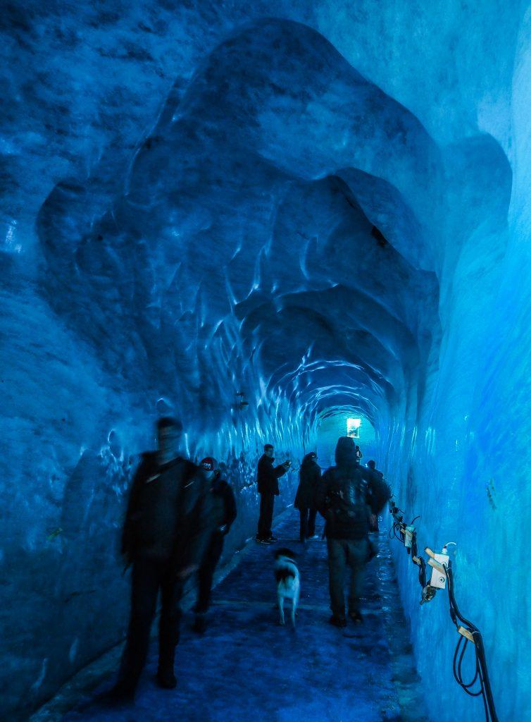 Grotte de glace à Chamonix