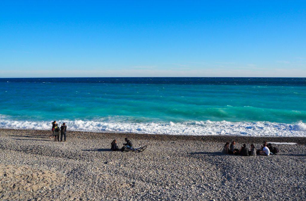 Le long de la Promenade des Anglais à Nice