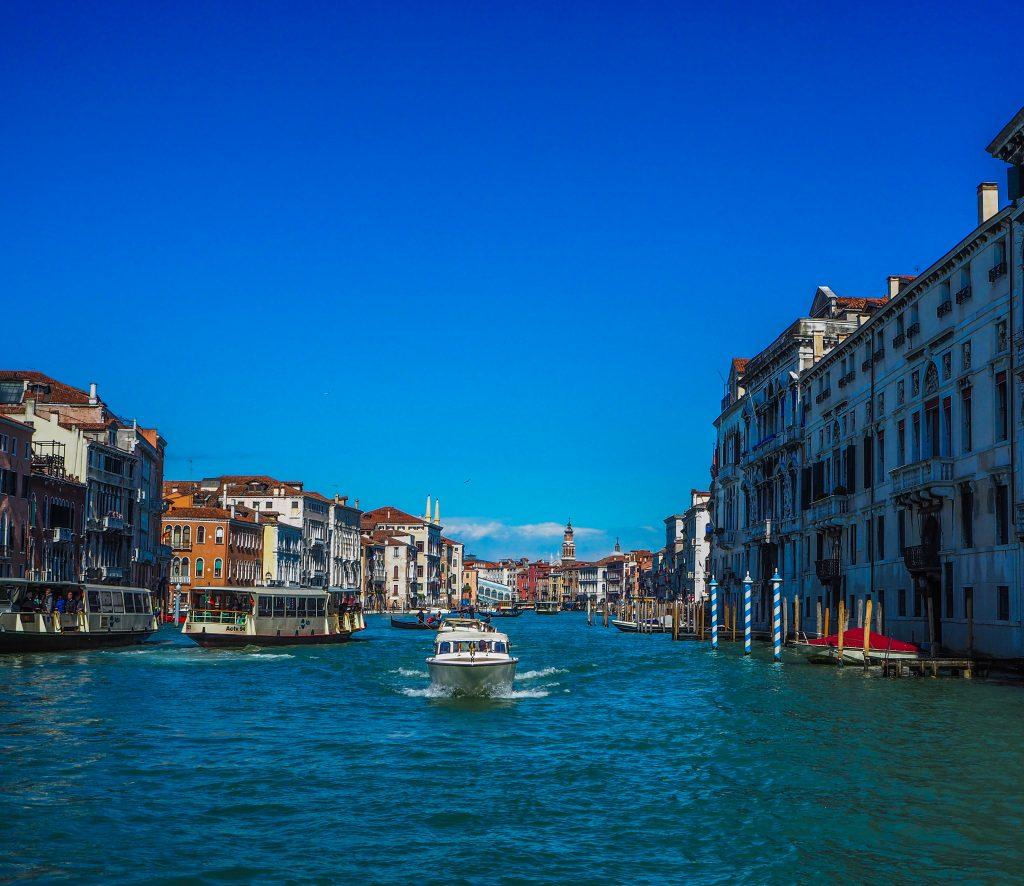 Sur le Grand Canal à Venise
