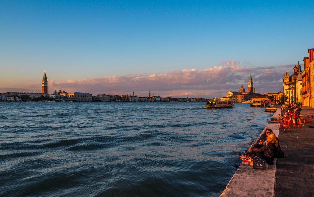 Coucher de soleil à Giudacca à Venise
