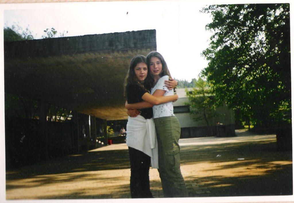Première rencontre de voyage, avec Annika ma correspondante allemande