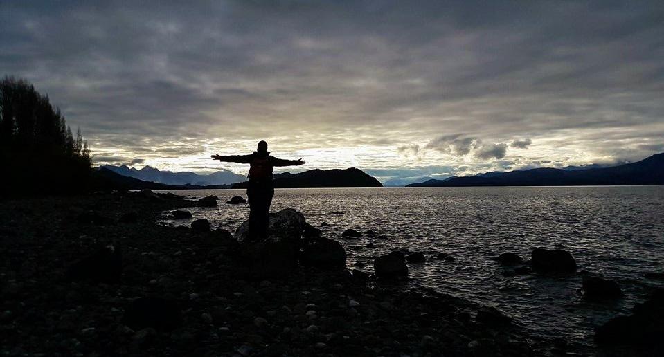 Coucher de soleil à Bariloche