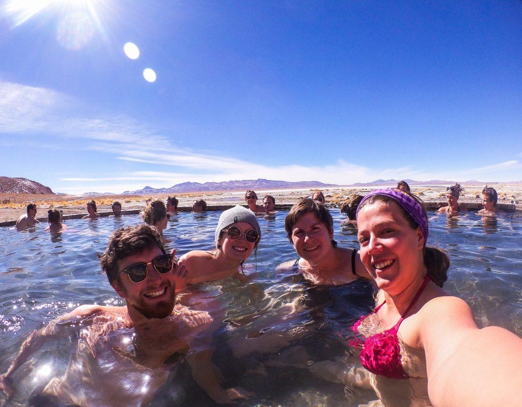 Sources d'eau chaude en Bolivie