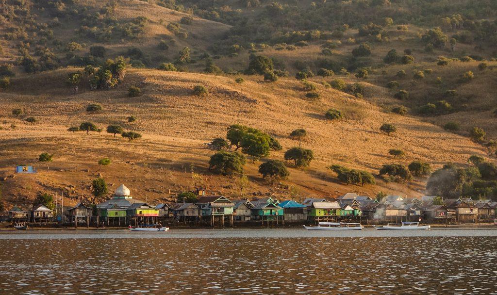 Village sur l'île de Komodo