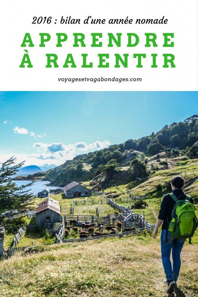 Bilan d'une année de nomadisme en 2016