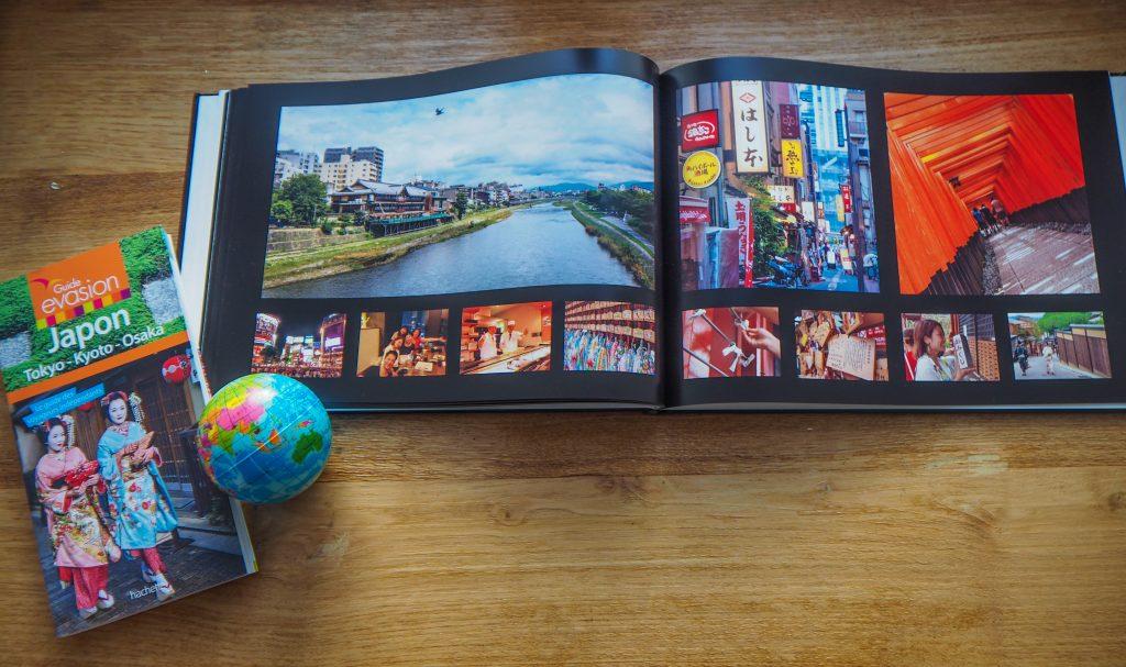 Pourquoi choisir un album photo de voyage en cadeau? Toujours pas d'idée de cadeau de Noël pour votre voyageuse ou voyageur préféré, même après avoir parcouru ma liste de 10 idées de cadeaux de Noël pour voyageuse? Alors, cette année, j'ai pour vous la solution idéale, un cadeau joli, personnel, facile à faire et original: offrez à vos amis ou même offrez-vous un album photo de voyage. C'est le cadeau de Noël parfait, le cadeau parfait en général et un que j'aimerais recevoir plus souvent! Offrez-moi en cadeau un album photo de voyage, je serai heureuse! J'ai toujours aimé les photos et les souvenirs qui y sont attachés. Depuis que je suis enfant et ado, je fais des albums photos de tout ce qui se passe dans ma vie, que ce soit des voyages ou d'autres événements. Il y a eu l'époque des albums photos classiques, puis les fichiers plastiques que je décorais manuellement et puis les albums en ligne, en passant par les albums Facebook. Pas grand monde n'accepterait de passer heures à regarder vos photos sur le petit écran de votre ordinateur ou votre smartphone et avec le nouvel âge du numérique, on n'imprime de moins en moins nos photos. En tout cas, je ne prends plus vraiment le temps de le faire et c'est bien dommage car un album photo de voyage est le meilleur moyen de rendre hommage à ce fameux voyage, le parcourir pour se remémorer de bons souvenirs, le feuilleter avec des amis en leur racontant des anecdotes, se faire nostalgique du bon vieux temps, etc. Offrez un album photo de voyage, un livre photo en cadeau de Noël A tort, je n'ai jamais pris le temps de faire ses fameux albums photos de voyage en rentrant de voyage, pensant que cela allait prendre des heures ou coûter bien trop cher. Lorsque je faisais encore tout à la main, faire l'album photo de voyage de mon tour du monde m'aurait probablement pris une semaine au-bas mot, beaucoup de sueurs et une grosse somme d'impressions photos. Avec les outils disponibles en ligne, j'ai pu faire facilement et rapideme
