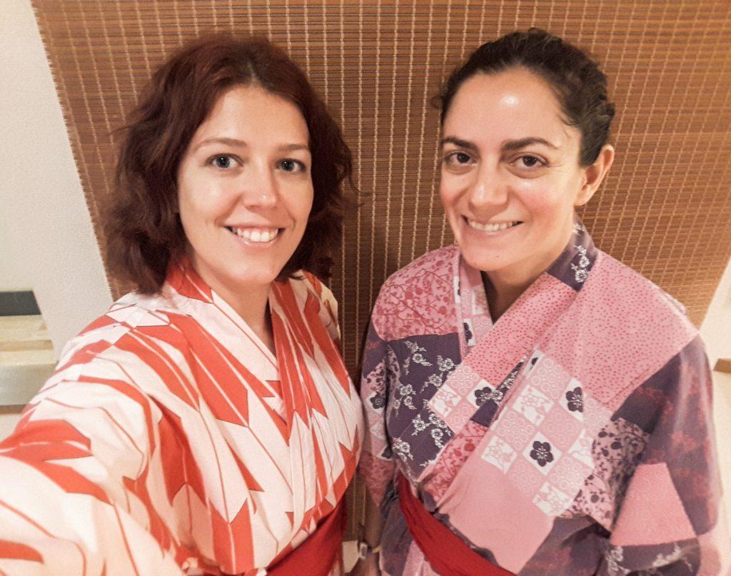 A la mode Yukata à Tokyo au Japon