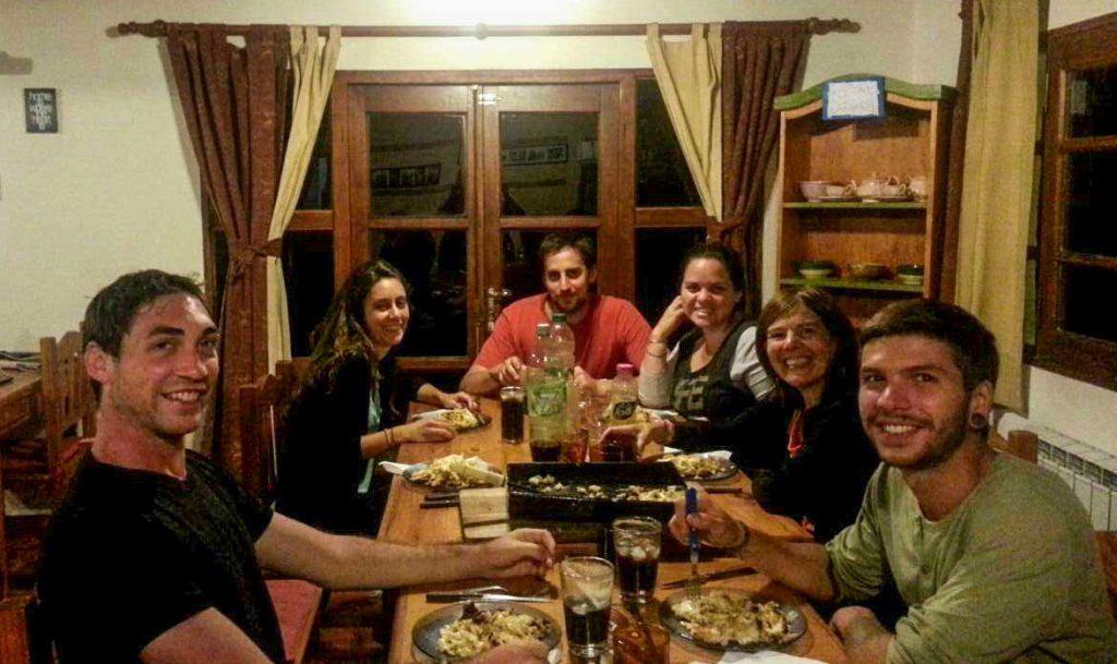 Une soirée au Mirador Hostel à El Bolson