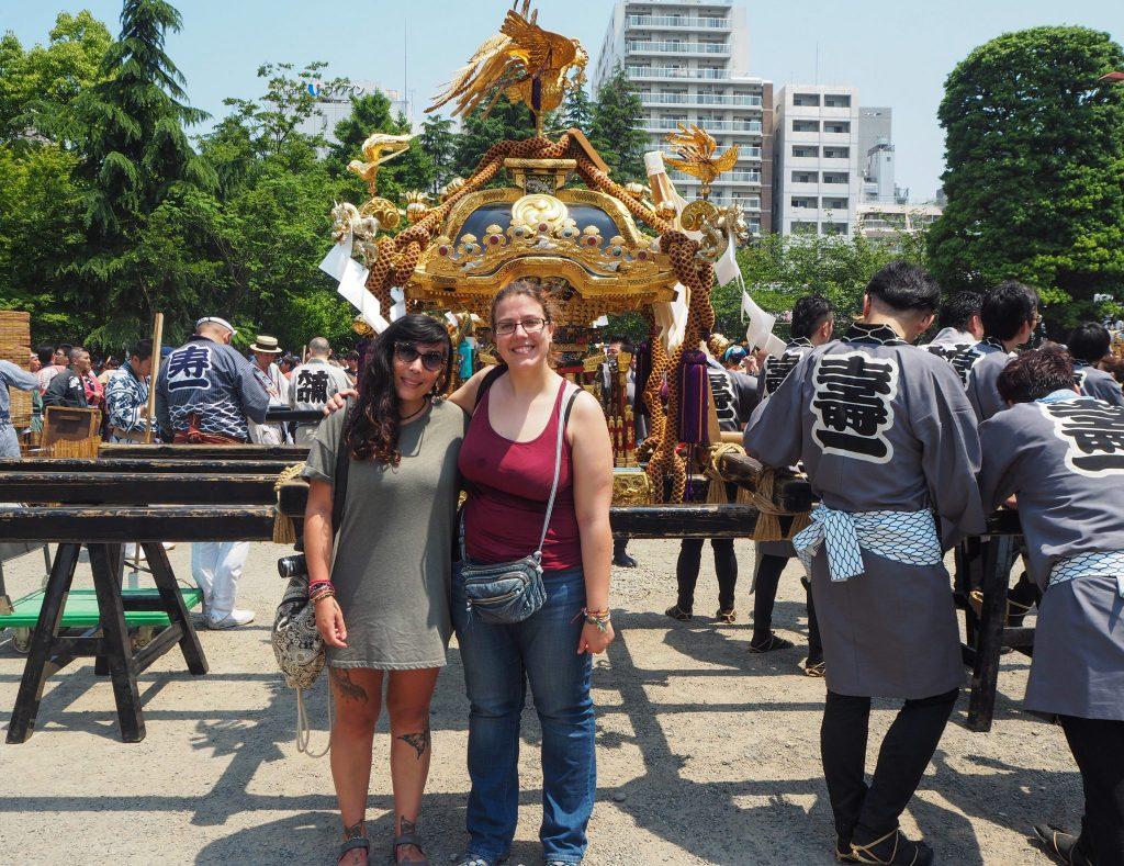 Avec Elisa au Sanja Matsuri à Tokyo - Voyages et Vagabondages au fil des mois - Mai 2017
