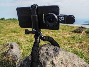 Trépied et objectif pour smartphone professionnel grand angle Pixter