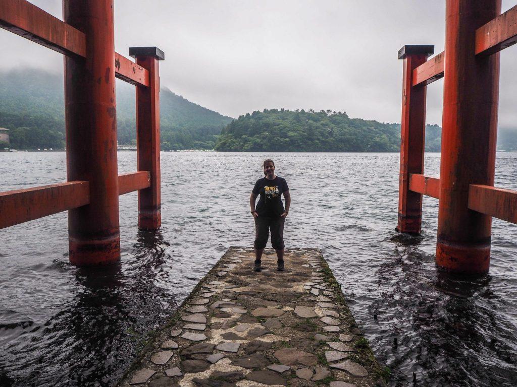 A Hakone, au début d'un mois de voyage à travers le Japon