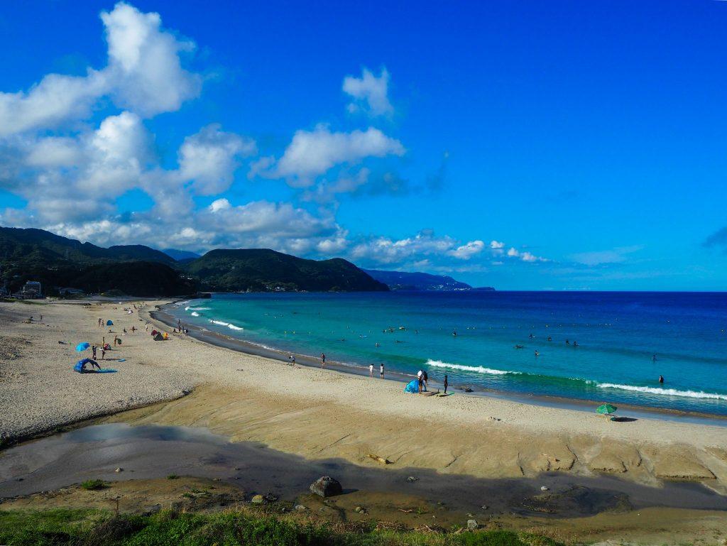 Plage de Shirahama à Shimoda sur la Péninsule d'Izu, Voyages et Vagabondages au fil des mois, Bilan mensuel Juillet 2017