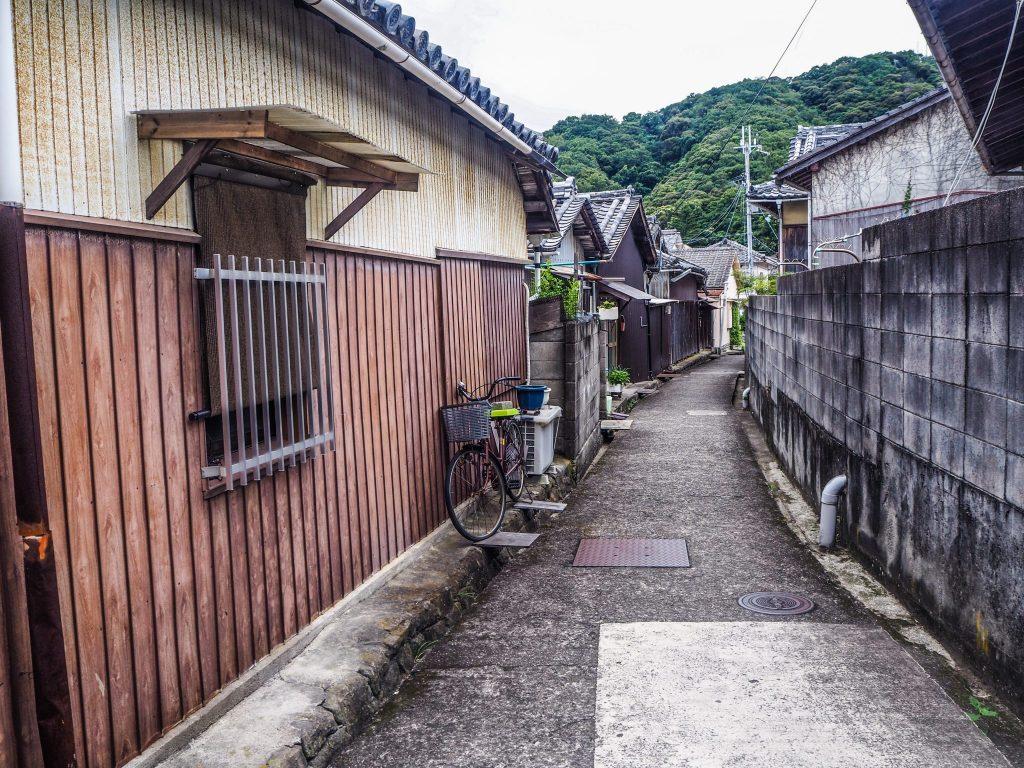 Wakayama sous la grisaille en été
