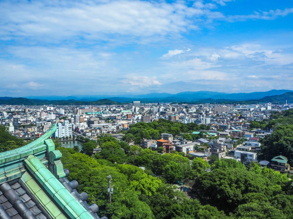 Vue depuis le château de Wakayama