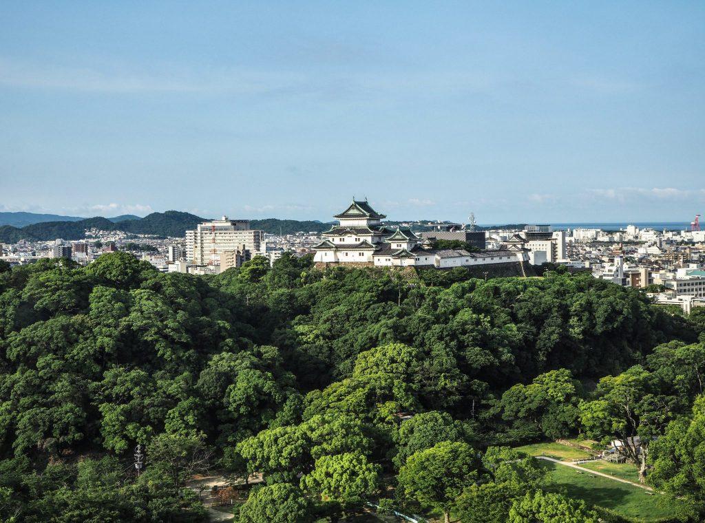 Vue depuis l'hôte Daiwa Roynet à Wakayama