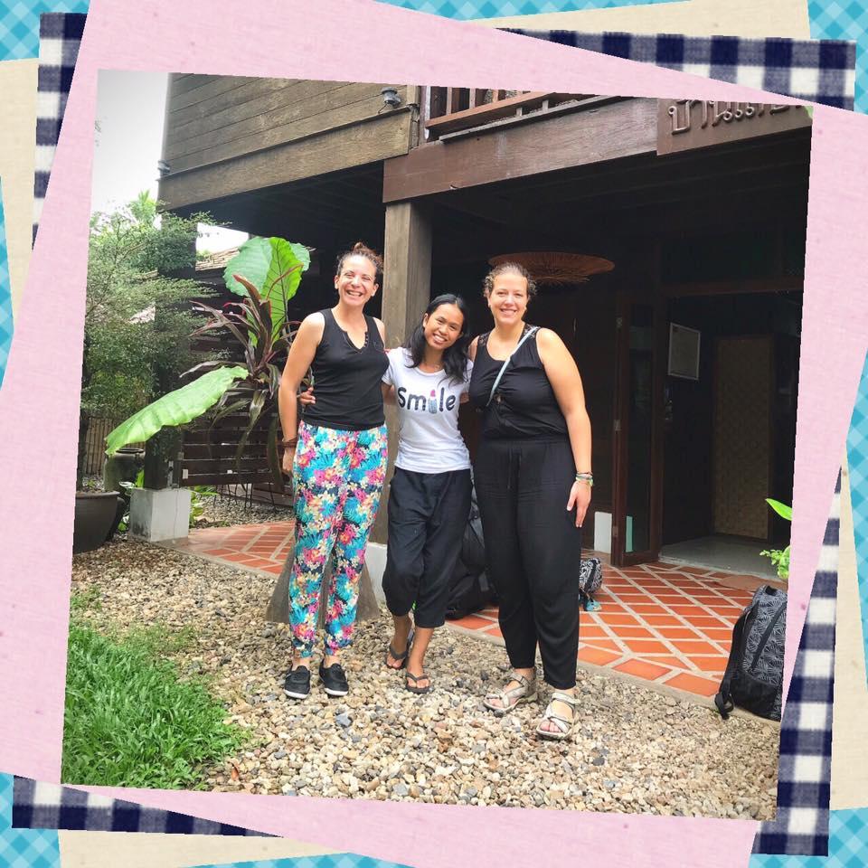 Arrivée à Chiang Mai avec Corinne au Swiss lanna Lodge - bilan mensuel octobre 2017