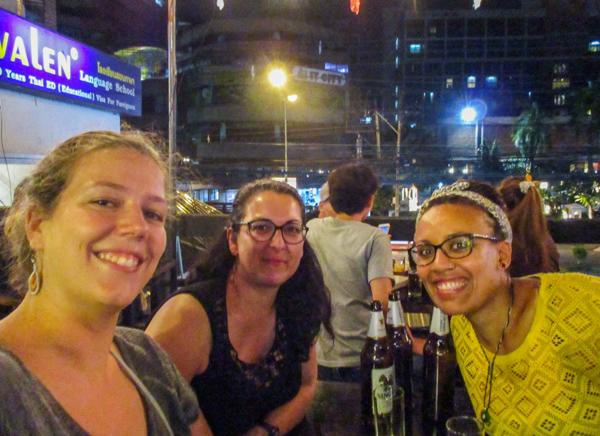Avec Julie et Isabella à Chiang Mai