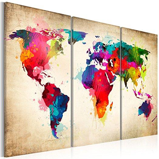 Un joli tableau carte du monde pour vos murs