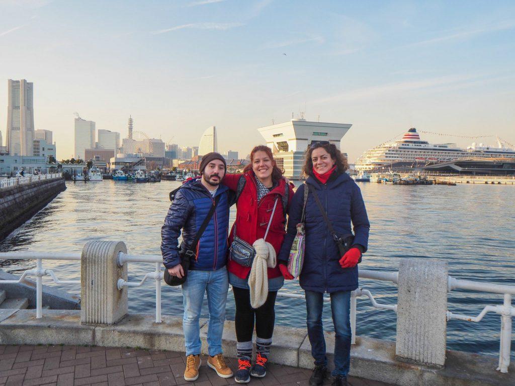 Sarah, Lucie et Jerem à Yokohama au Japon, Janvier 2017 - Bilan de 4 ans de nomadisme digital