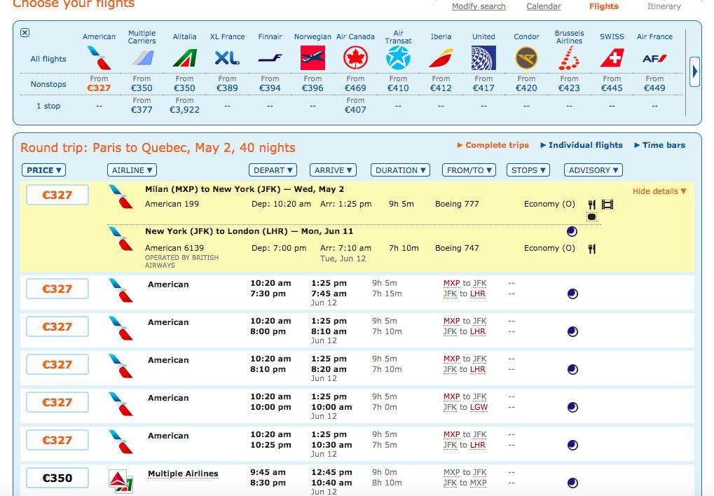 Comment trouver un billet d'avion pas cher? Moteur de recherche Matrix Ita