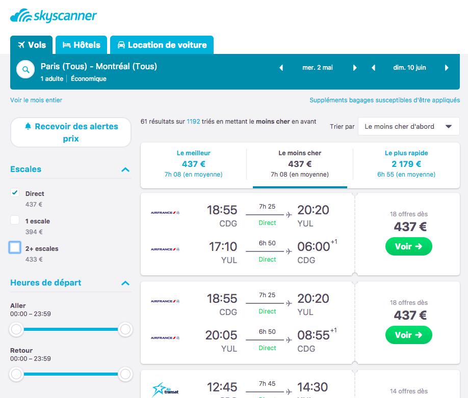 Comment trouver un billet d'avion pas cher? Comment faire une recherche de vol pas cher sur Skyscanner