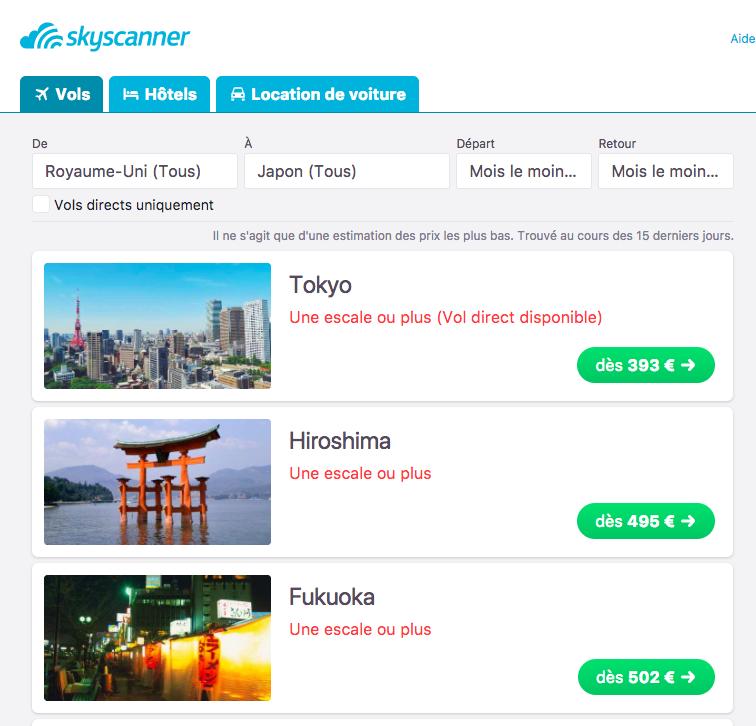 Comment trouver un billet d'avion pas cher? Comment trouver un billet d'avion pas cher pour le Japon pendant la saison des cerisiers
