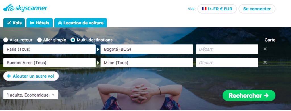 Comment trouver un billet d'avion pas cher? Outil multi-destinations de Skyscanner