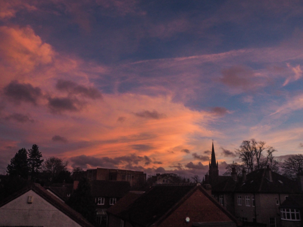 Sunset in York, England - Travel and Wanderings over the months - Monthly Review January 2018