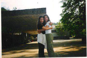 Avec ma correspondante allemande en 5e, Annika