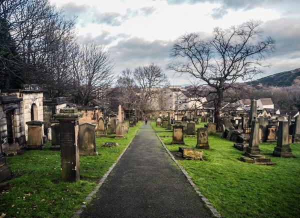 Un cimetière à Edimbourg - Visiter Edimbourg en hiver - Un week-end dans la capitale écossaise: visiter Edimbourg en mode slow travel / que faire en cas de pluie Edimbourg et sur les traces d'Harry Potter à Edimbourg.
