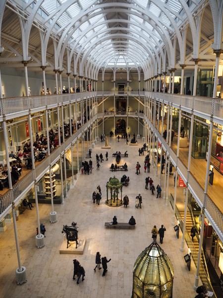 National Museum of Scotland à Edimbourg - Visiter Edimbourg en hiver - Un week-end dans la capitale écossaise: visiter Edimbourg en mode slow travel / que faire en cas de pluie Edimbourg et sur les traces d'Harry Potter à Edimbourg.