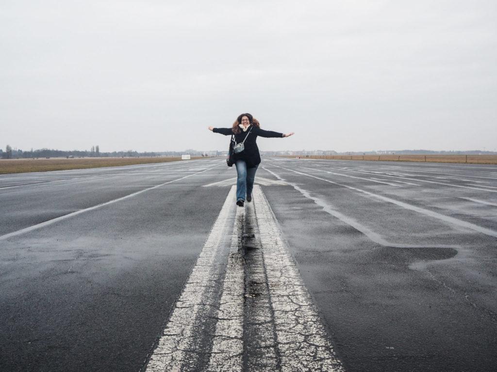 Tempelhof à Berlin - L'hiver à Berlin - Bilan mensuel de voyage en Suisse, en Allemagne et en France - Voyages et Vagabondages