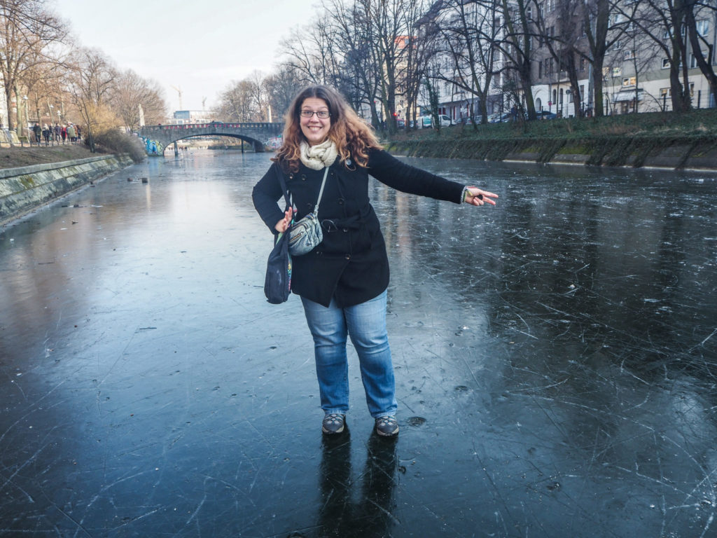 Marcher sur le canal gelé à Berlin en mars 2018 - Bilan voyage entre la Suisse, l'Allemagne et la France en mars 2018