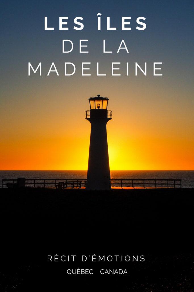 Iles de la Madeleine - Coucher de soleil au Phare du Borgot - De buttes en buttes aux îles de la Madeleine - Récits d'émotions. Québec. Canada.