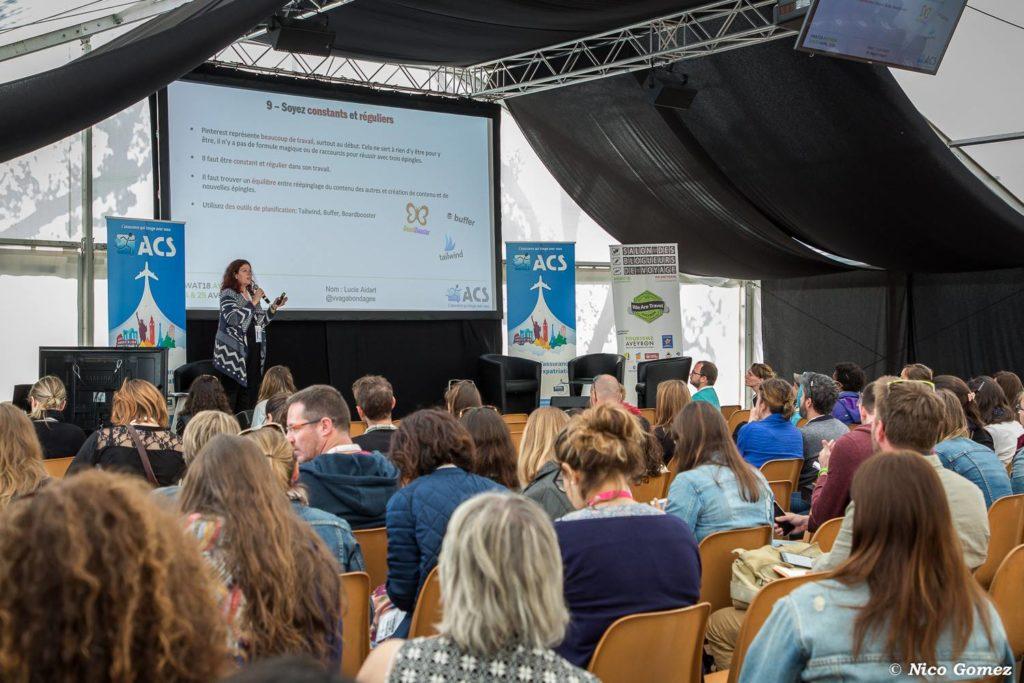 Conférence Pinterest au Salon des Blogueurs de voyage à Millau - Bilan mensuel avril et mai 2018 entre la France et le Canada - Voyages et Vagabondages