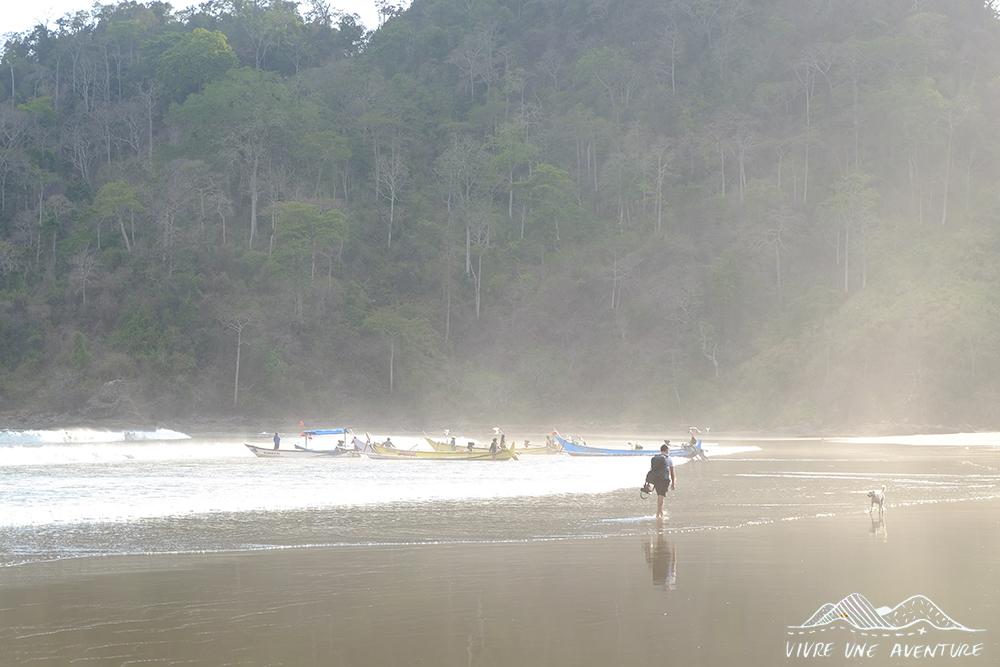Baie des pêcheurs à Meru Betiri - Sukamade, la plage des tortues sur Java en Indonésie, un paradis menacé - Lieux secrets et méconnus de l'Indonésie - Indonésie authentique et hors des sentiers battus