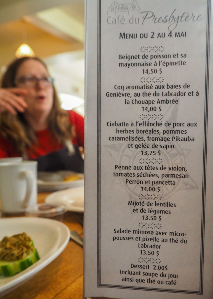 Saveurs boréales au Café du Presbytère à Chicoutimi - Visiter la région du Saguenay Lac Saint-Jean