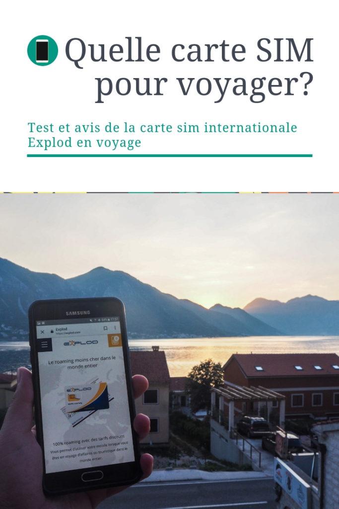 Test de la Carte sim internationale Explod pour rester connecté en voyage